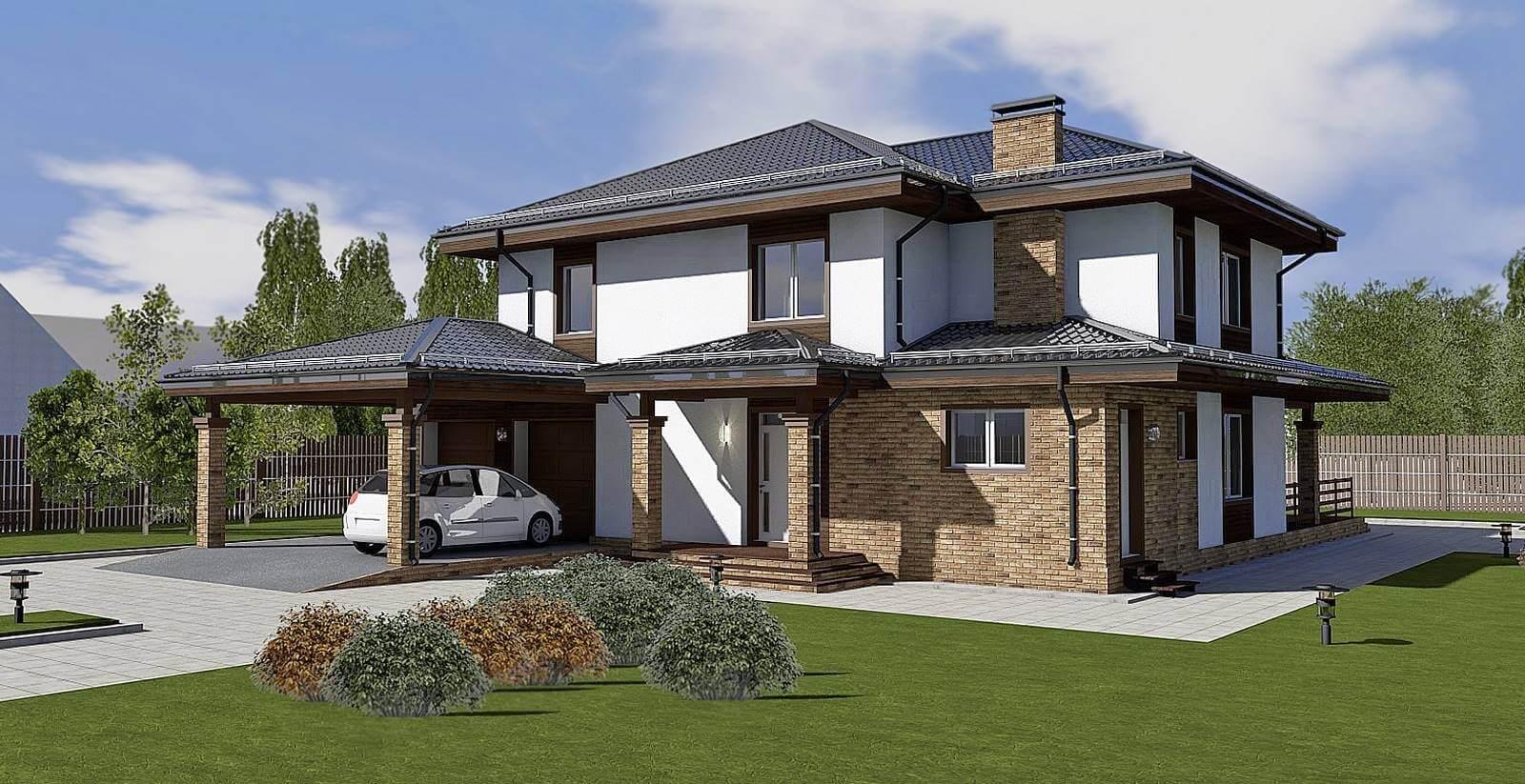 могли назвать проекты красивых двухэтажных домов с гаражом фото как выгодно снимать