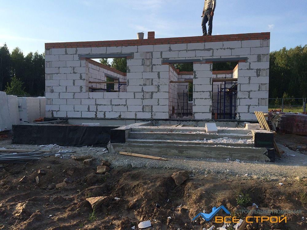 Фото строительства домов из инси блоков